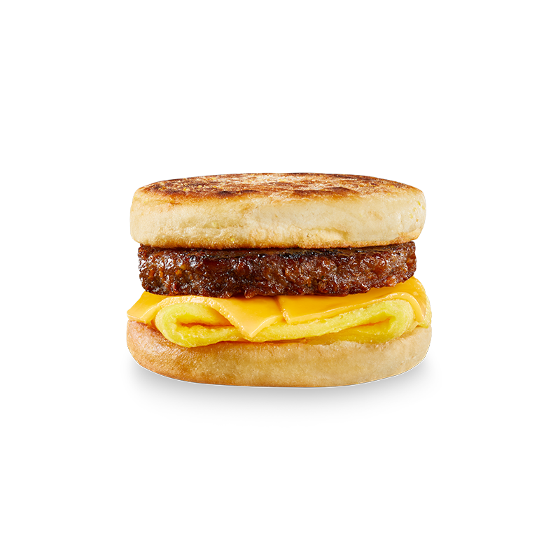 BEYOND BREAKFAST SAUSAGE® in English muffin with egg and cheese