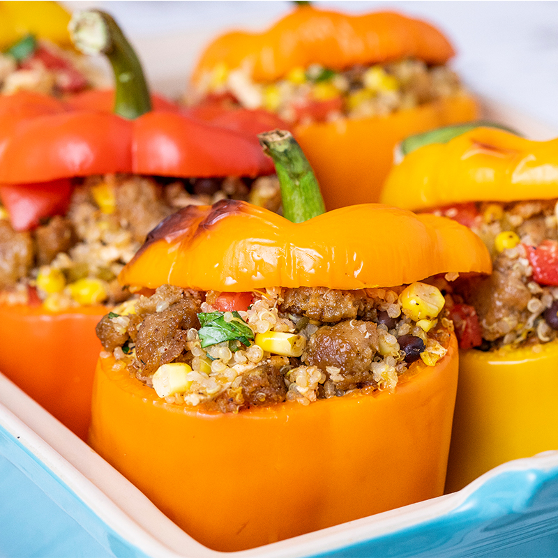 Beyond Sausage Stuffed Peppers