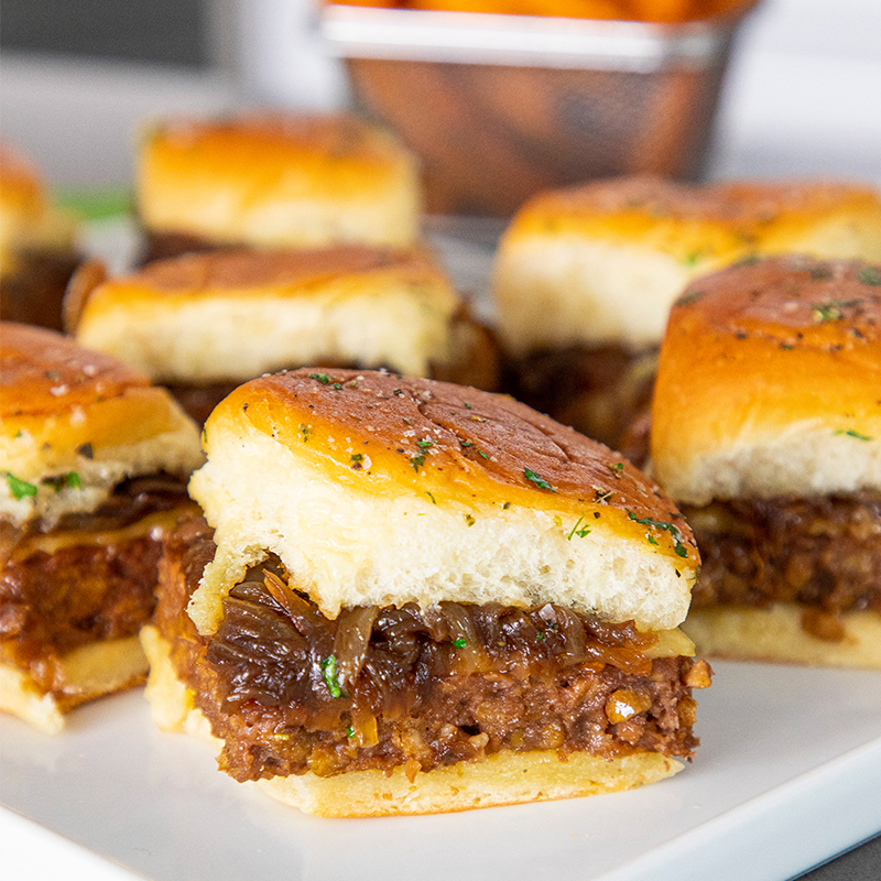 Beyond Beef Garlic Sliders