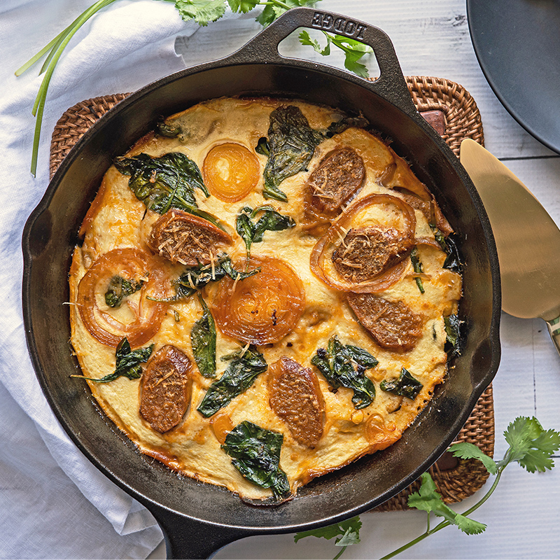 Beyond Sausage & Spinach Frittata