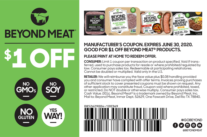 Coupon Beyond Meat Go Beyond
