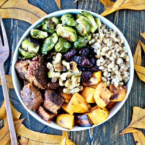 Beyond Burger Holiday Farro Bowl
