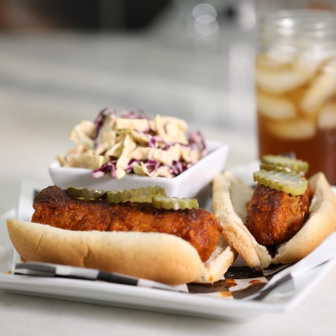 Chef Charity's Nashville Hot Brat